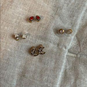 Set of 4 Free People Stud Earrings